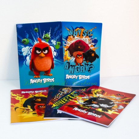 Quaderno Angry Birds A4 Quadretti 5mm