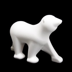 Orso polare di polistirolo