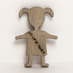 Bimba in legno H26Cm