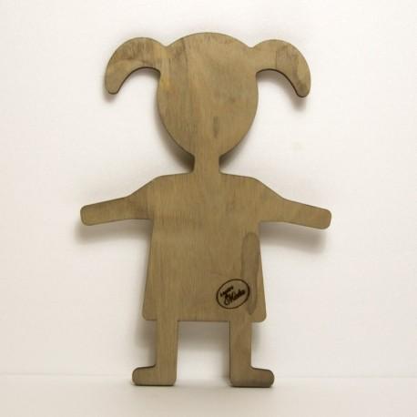 Bimba in legno H10Cm