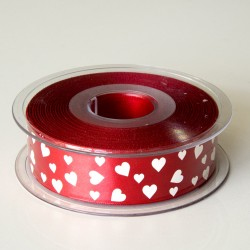 "Nastro ""Satin heart"" 25mm Col.120"