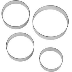 Set 4 tagliapassta cerchio metallo