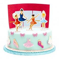 5 Pick Ballerina per decorazione torte