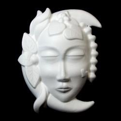 Maschera Luna di polistirolo 18x24hCm