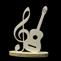 Chiave di Sol e chitarra