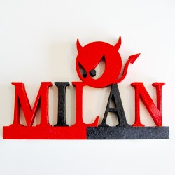 "Scritta ""Milan"""