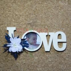 """Scritta """" Love"""" con cornice"""