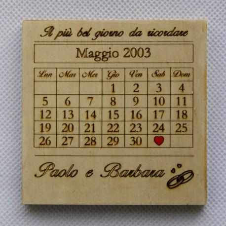 Calendario, giorno da ricordare