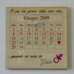 Calendario, giorno da ricordare nascita
