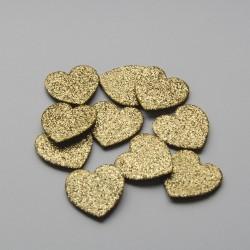 Cuore dorato da 10mm
