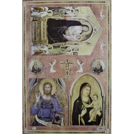 """Carta decoupage """"Religione e icone"""""""