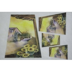 Carta di riso pittorica Hobby Blu