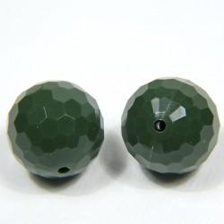 Perla sferica verde opaco