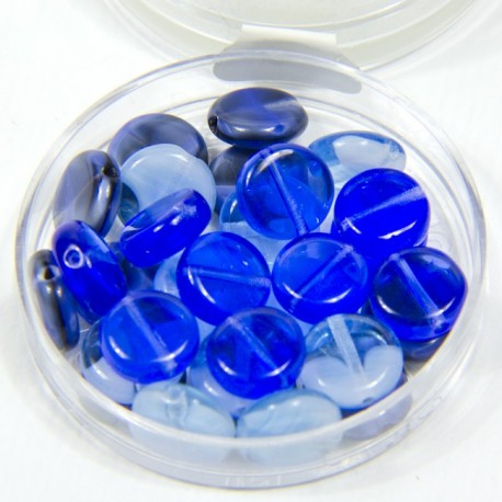"""Perline piatte """"Blu"""" 8mm"""