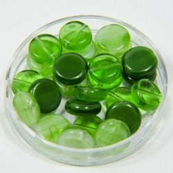 "Perline piatte ""Verde"" 8mm"