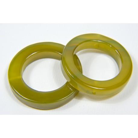 "Agata cerchio aperto ""Giallo/Verde"""
